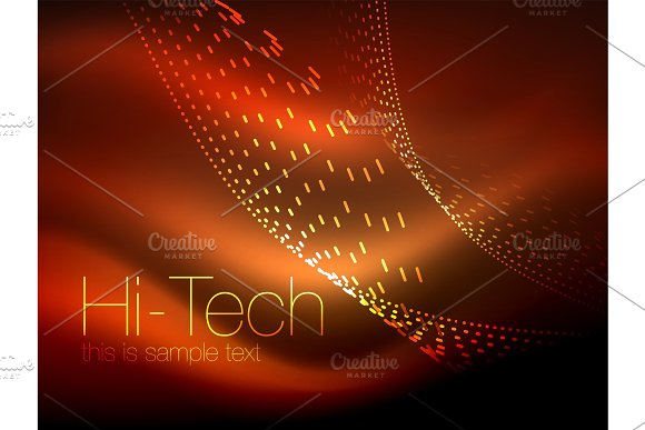 Elegant Neon Flowing Stripes Smooth Waves With Light Effects