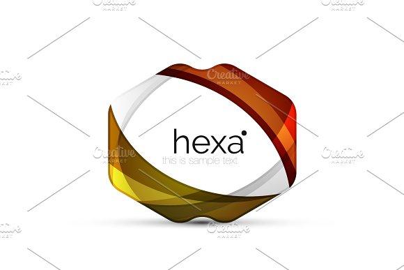 Clean Professional Hexagon Shape Business Emblem