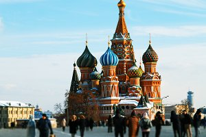 Saint Basil's Cathedral architecture background