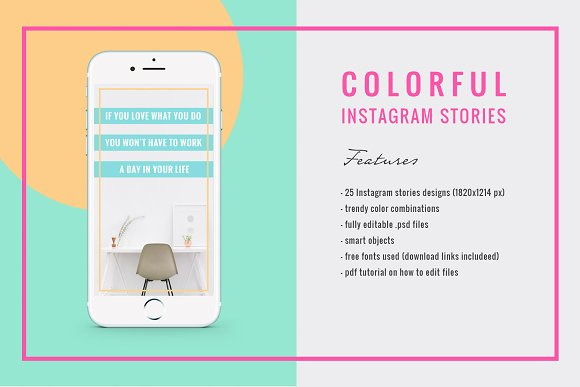 COLORFUL Instagram Stories in Instagram Templates - product preview 2