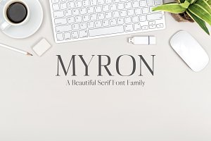 Myron Serif Fonts Family Pack