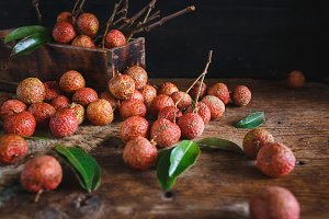 Fresh lychees