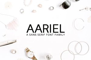 Aariel Sans Serif 7 Font Family Pack