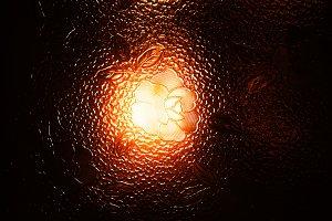 Sunset flower texture glass background