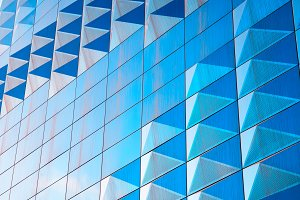Diagonal modern blue wall texture background