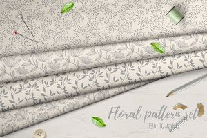 26 Floral patterns set