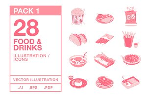 Food & Drinks Icons #1