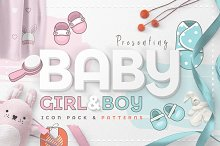 Baby Girl & Boy Icon Pack by Diana Hlevnjak in Icons