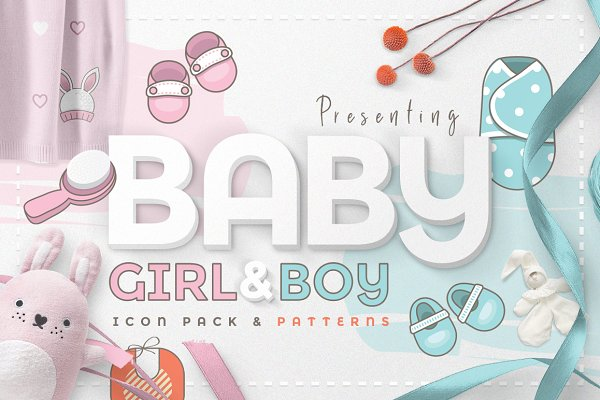 Icons: Polar Vectors - Baby Girl & Boy Icon Pack