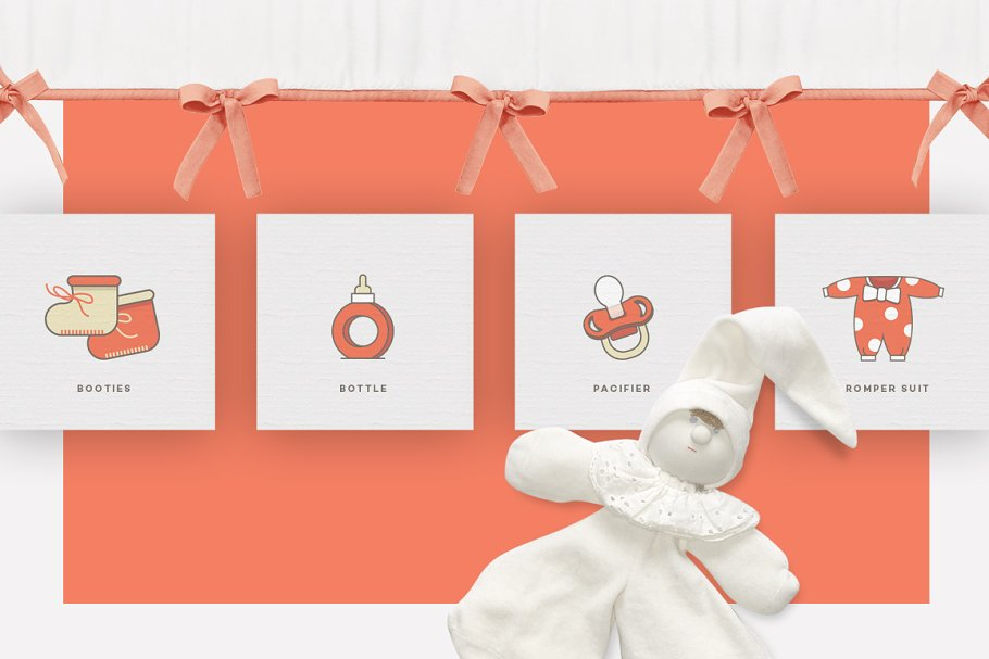 Baby Girl & Boy Icon Pack in Baby Icons - product preview 3