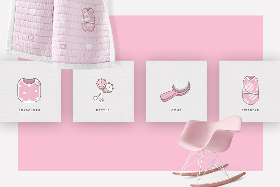 Baby Girl & Boy Icon Pack in Baby Icons - product preview 4