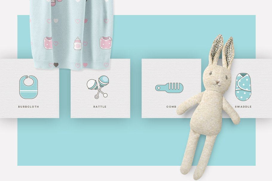 Baby Girl & Boy Icon Pack in Baby Icons - product preview 5