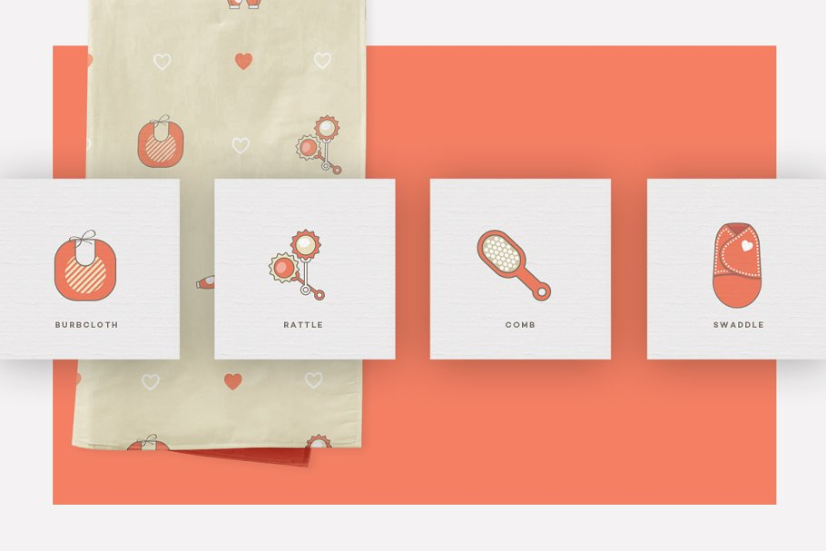 Baby Girl & Boy Icon Pack in Baby Icons - product preview 6
