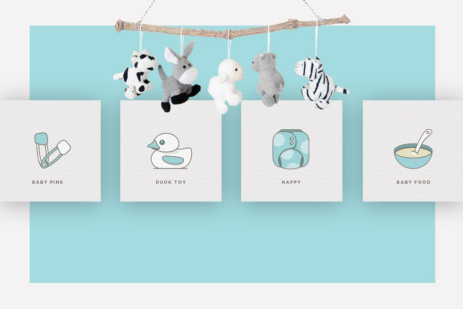 Baby Girl & Boy Icon Pack in Baby Icons - product preview 8