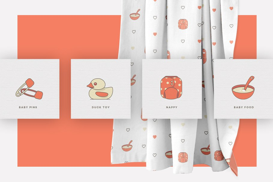 Baby Girl & Boy Icon Pack in Baby Icons - product preview 9