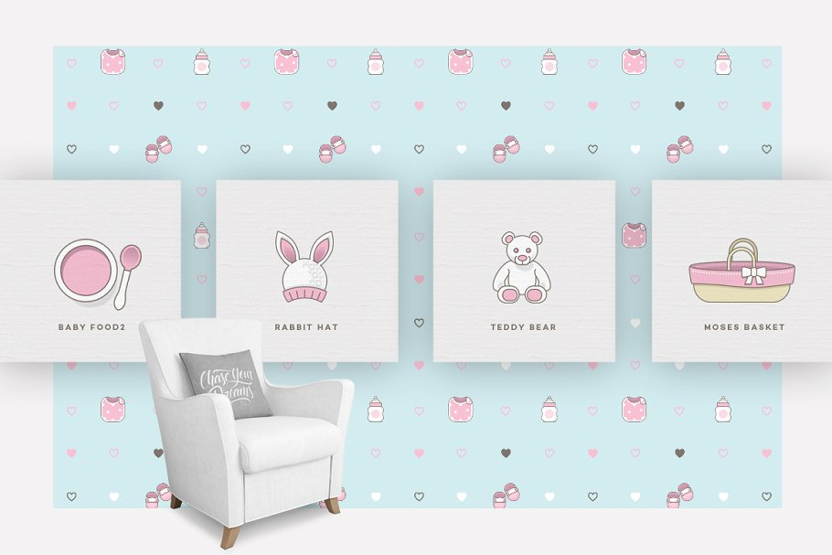 Baby Girl & Boy Icon Pack in Baby Icons - product preview 10