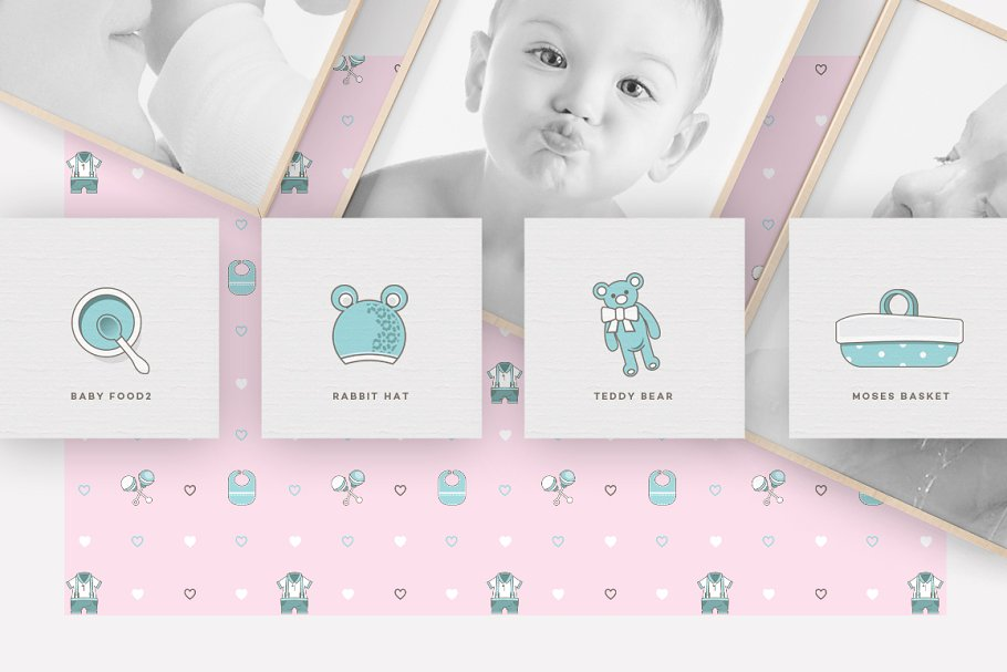 Baby Girl & Boy Icon Pack in Baby Icons - product preview 11