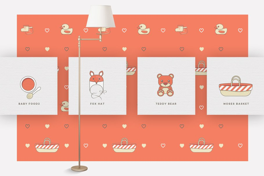 Baby Girl & Boy Icon Pack in Baby Icons - product preview 12