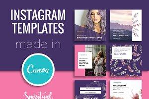 Instagram Templates edit in Canva