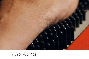 Macro shot of foot during scanning
