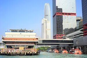 Ferry pier, Hong Kong