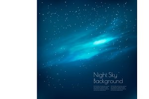 Night sky background with clouds.