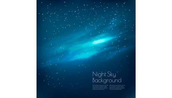 Night Sky Background With Clouds