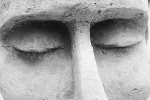 Sculpture´s eyes Detail Black White