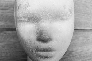 Sculpture´s head Black and White