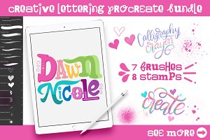 Creative Lettering Procreate Bundle