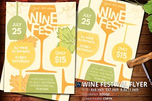 Wine Festival Tasting Flyer And Post