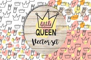 Little queen vector set
