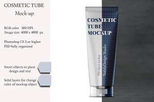 Cosmetic tube mockup. Product mockup