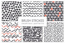 Brush Strokes. Seamless Patterns ▪ 4