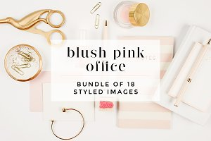 Blush Pink Desktop + Mockup Bundle