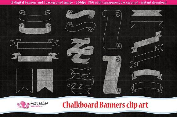 Chalkboard Banners Clip Art