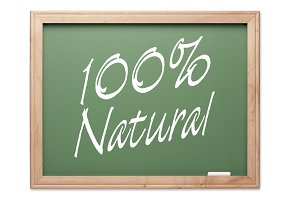 100 Percent Natural Chalk Board