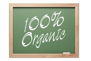 100% Organic Green Chalk Board