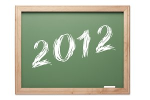 2012 Green Chalk Board on White