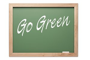 Go Green Green Chalk Board Series on