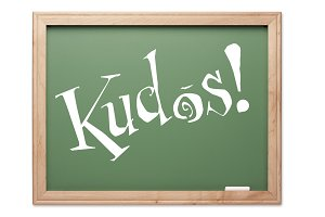 Kudos! Green Chalk Board