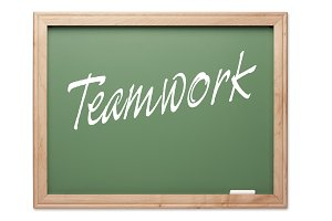 Teamwork Green Chalk Board