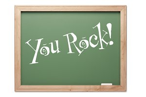 You Rock! Green Chalk Board