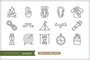 Minimal scout icons