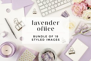 Lavender Styled Desktop Bundle