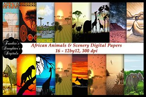 African Scenery/Animals Papers