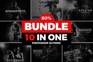 Mega 10 Photoshop Actions Bundle
