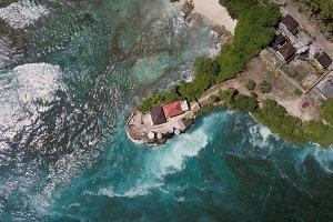 Bali coastline from above