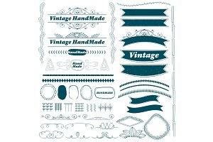 Vintage hand made ribbon and divider lines set