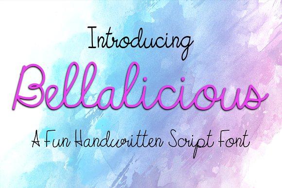 Bellalicious Font